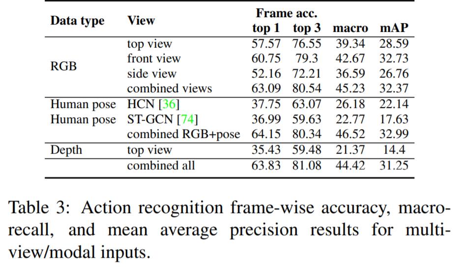 Multi-view and multi-modal action recognition